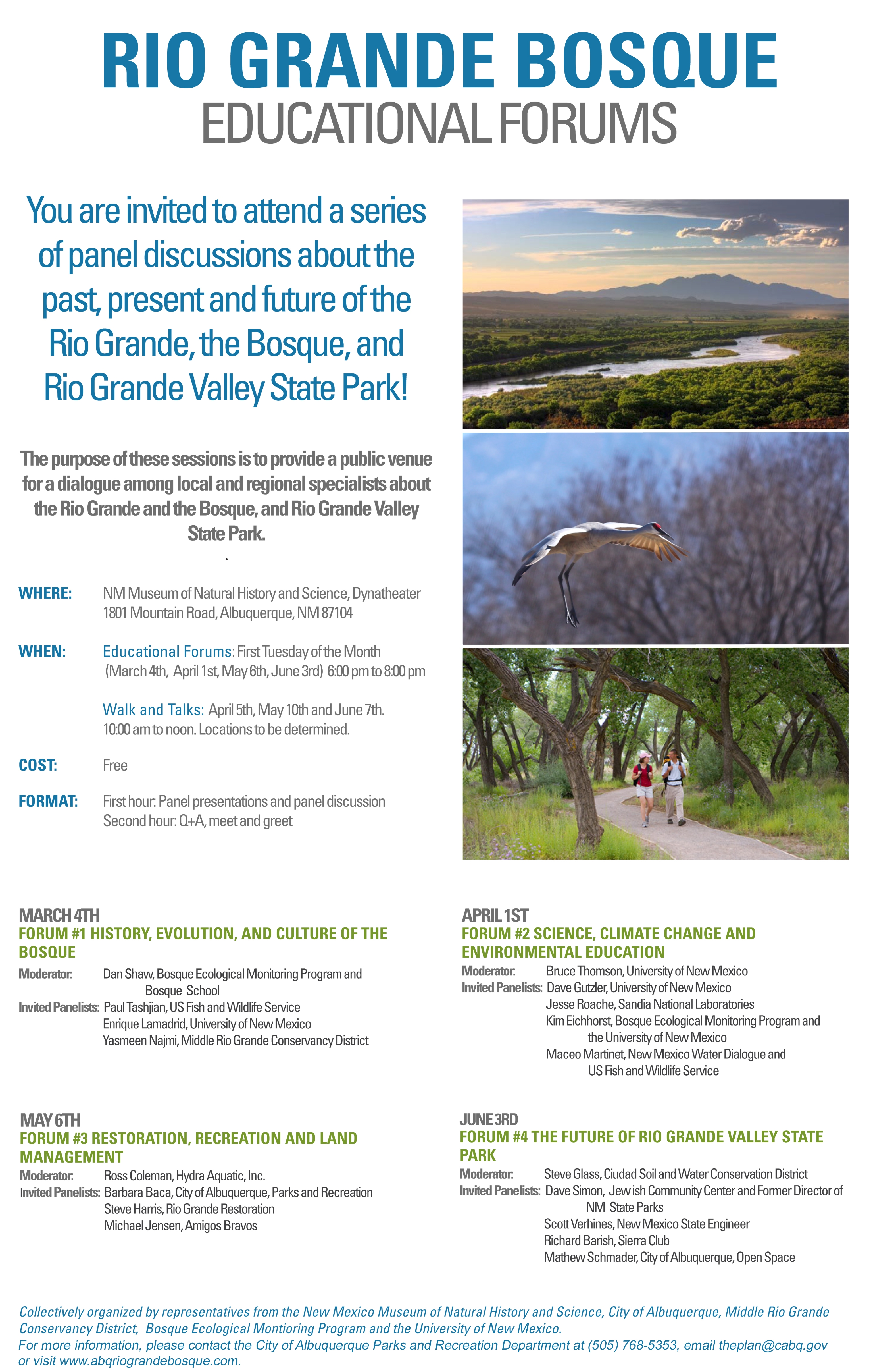Bosque Ed Forum Poster