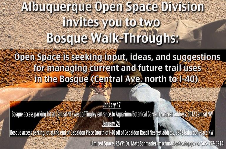 Bosque Walk through EVITE