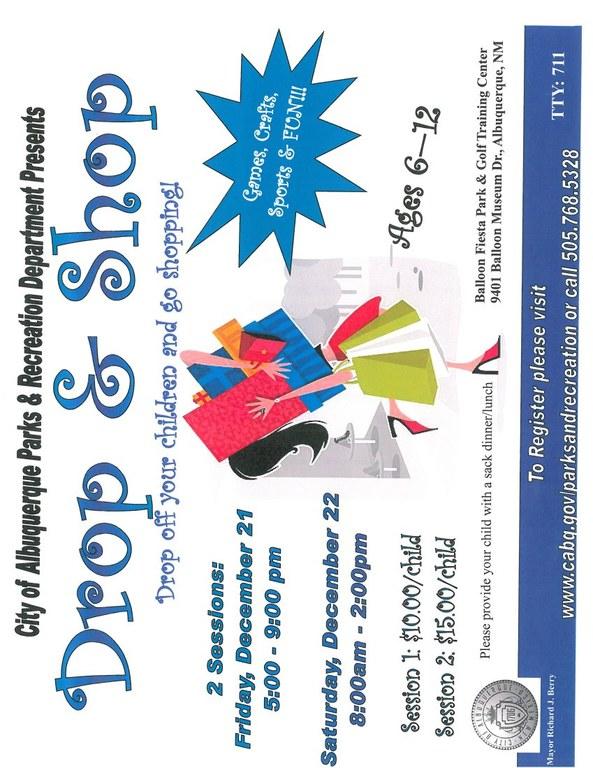 Drop and Shop Flyer