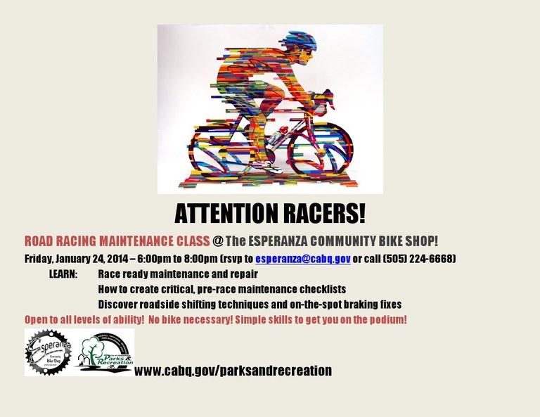 ECBS Racer Flyer (January 2014)