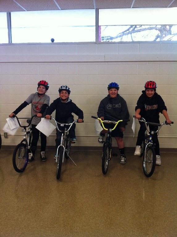 First Earn-a-Bike Class at Esperanza
