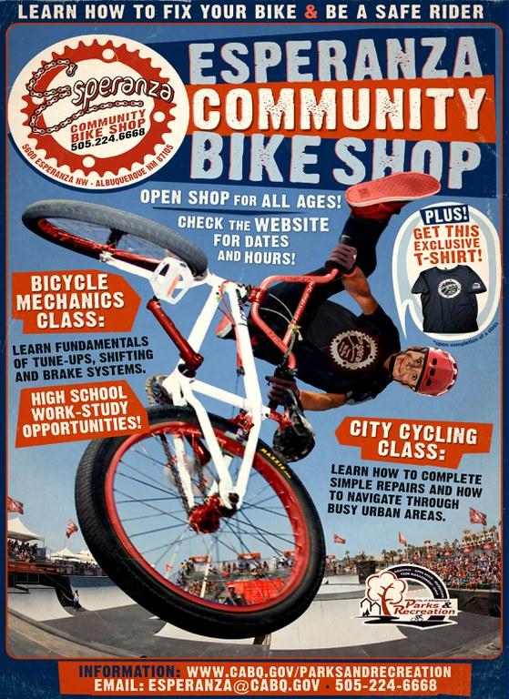 Esperanza Community Bike Shop 8 x 11 poster
