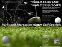2012-2013 Golf Winter and Year Round Specials Flyer