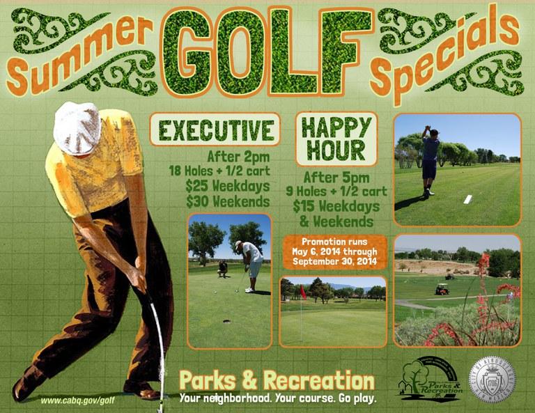 Updated Summer Golf Specials Flyer 2014 Horizontal