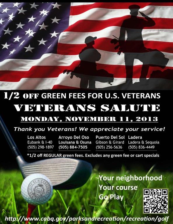 Veterans Day Golf Flyer 2013