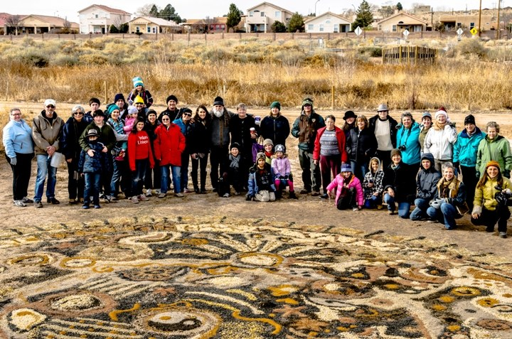 Group shoot winter solstice mandala 2012