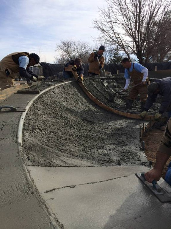 Los Altos Skate Bowl Construction