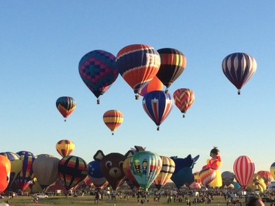 caption:An image of the Balloon Fiesta