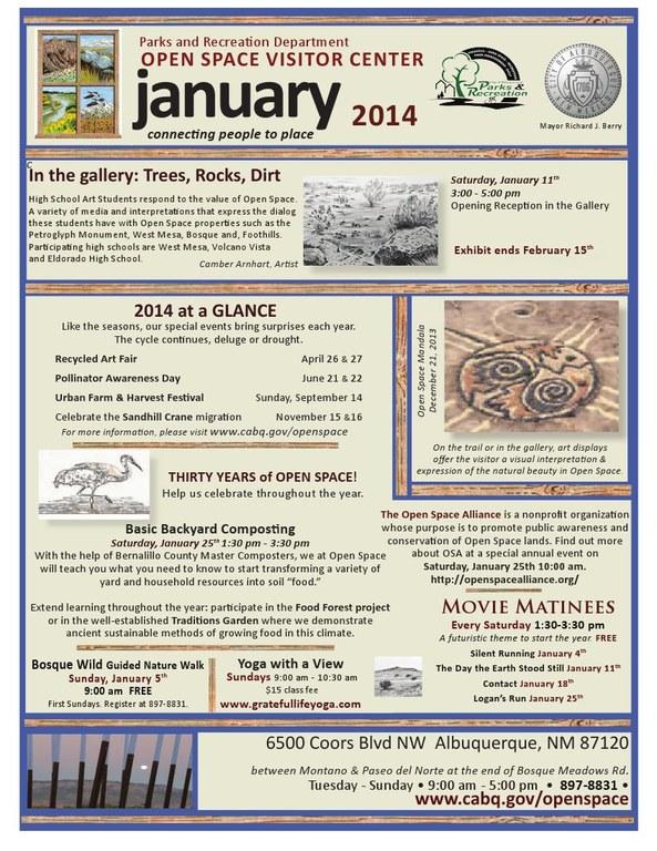 OSVC January 2014 Calendar of Events