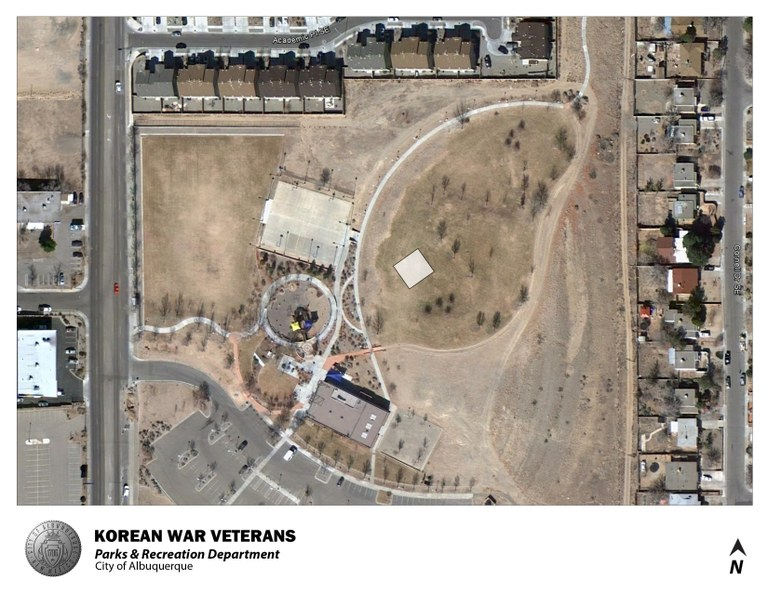 Korean War Veterans Park Jumper Map (August 2012)
