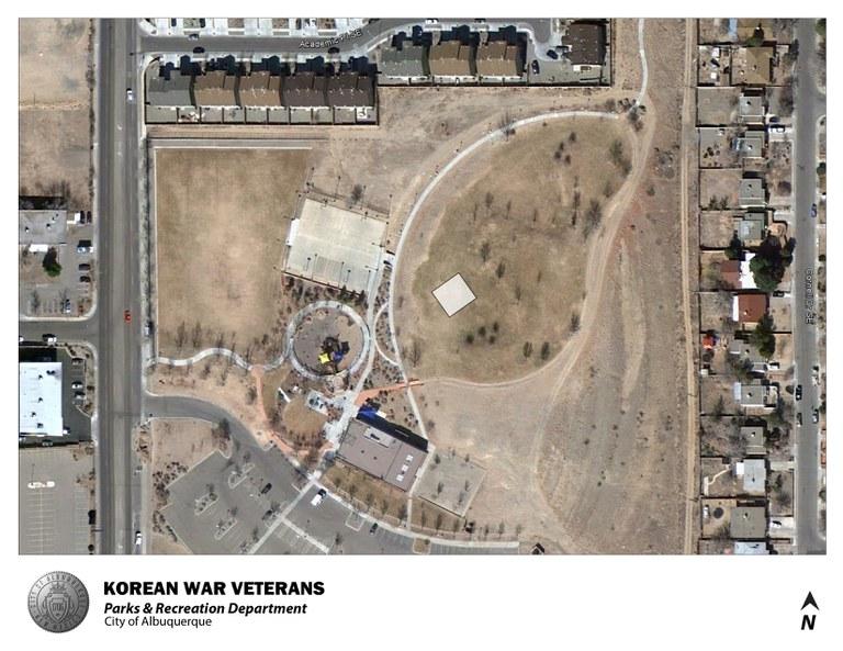 Korean War Veterans Park Jumper Map (August 2012)