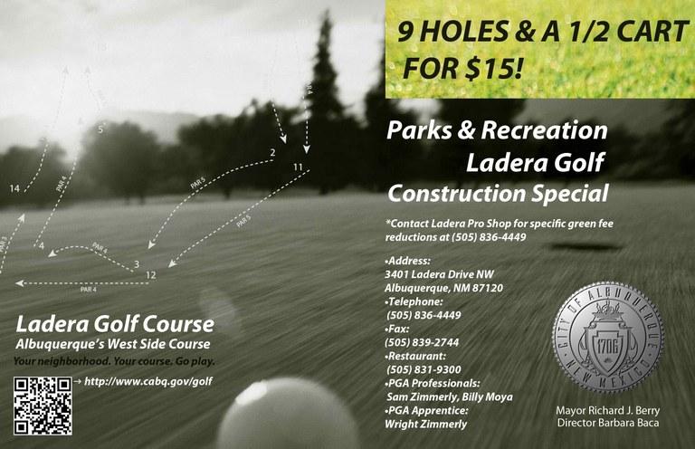 Ladera Construction Special Half Page