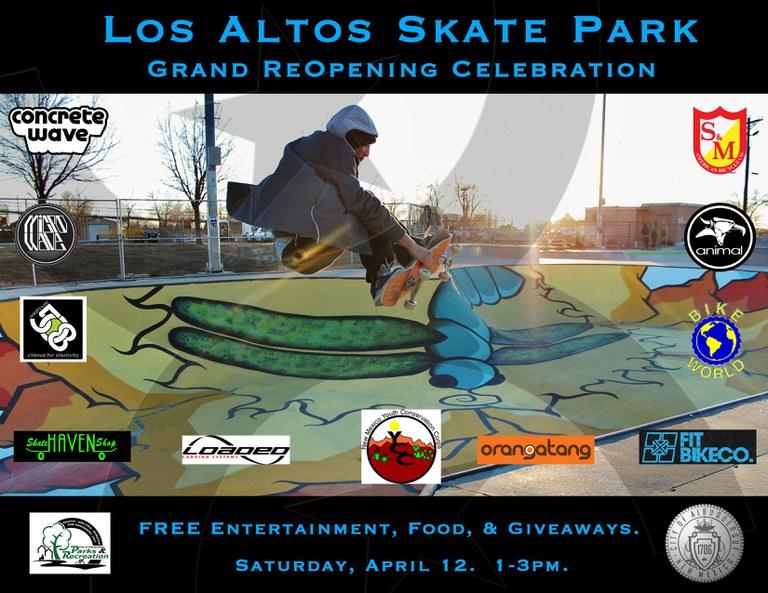 Los Altos Skate Park Celebration Flier
