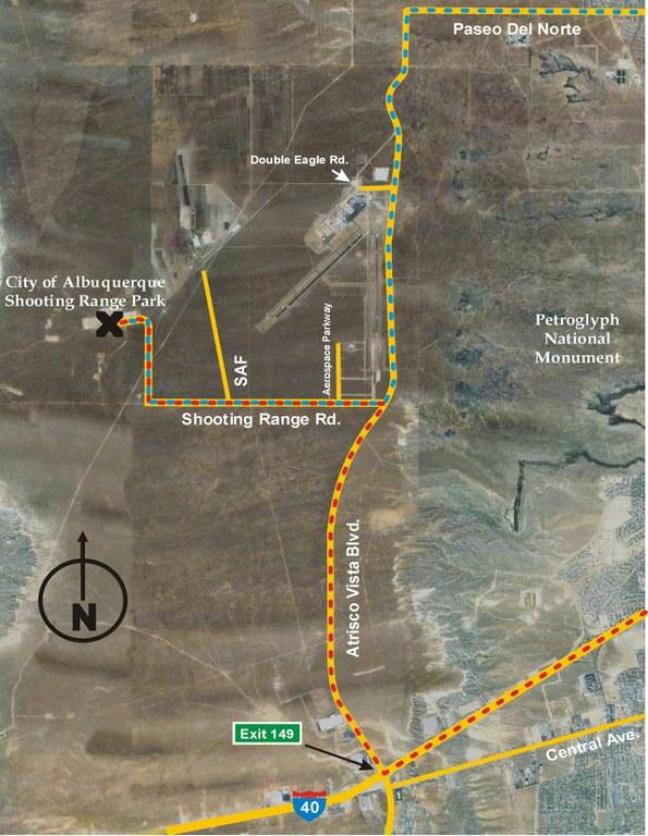Map to Shooting Range