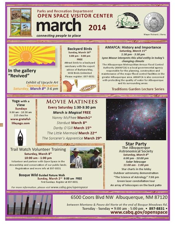OSVC Calendar March 2014