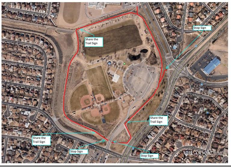 Mariposa Bike Trail Paving Project Map