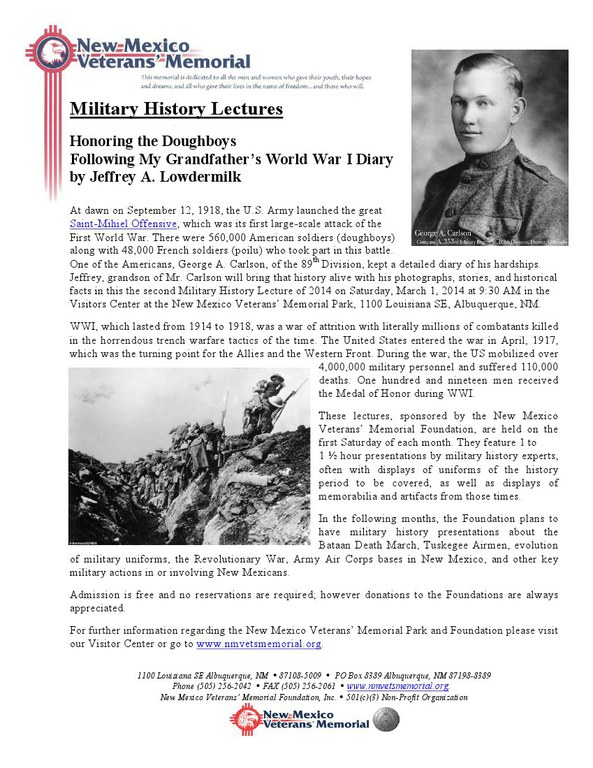 Military History Lecture - Doughboys