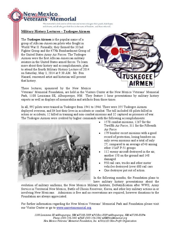 Military History Lecture - Tuskegee Airmen