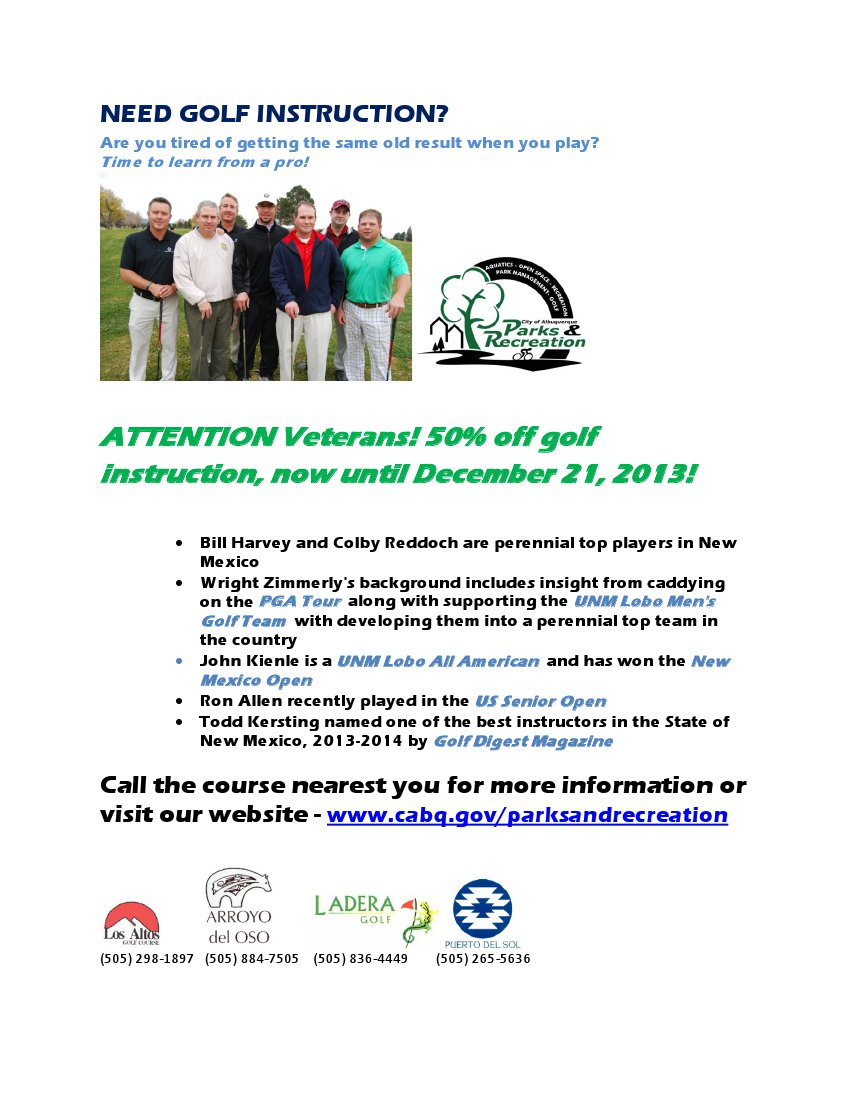 Vet Golf Instruction