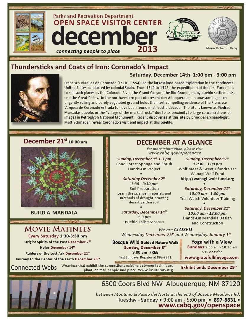 OSVC December 2013 Calendar of Events