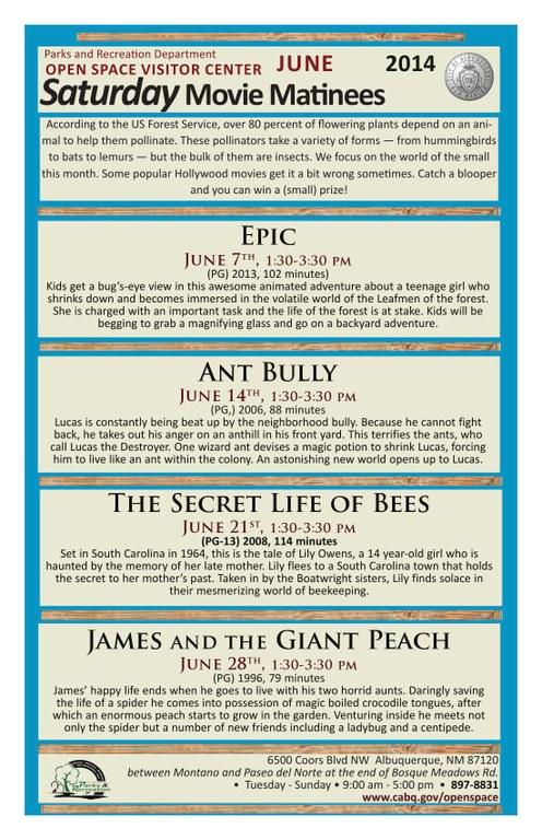 OSVC June Movie Matinee Calendar