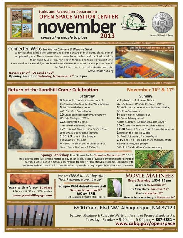 OSVC November 2013 Calendar