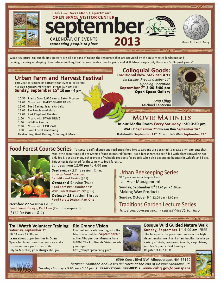 OSVC Calendar of Events September 2013