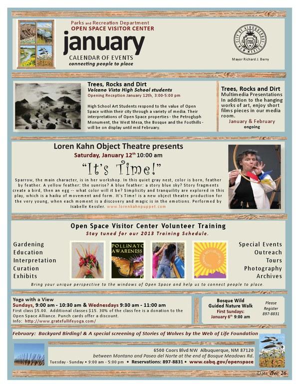 January 2012 OSVC Calendar of Events