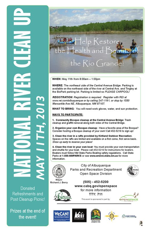National River Cleanup Day Flyer 2013