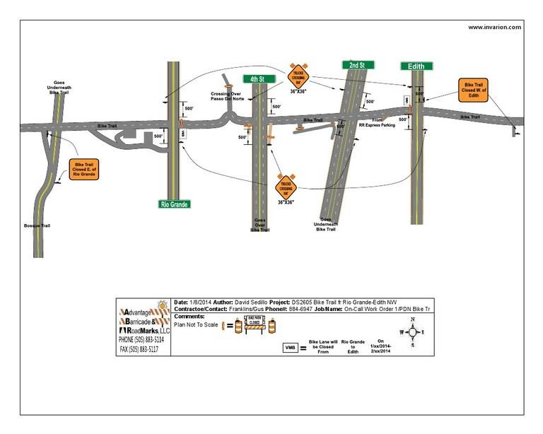 PDN Bike Trail Closure Map