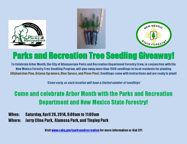 Tree Seedling Giveaway Flier