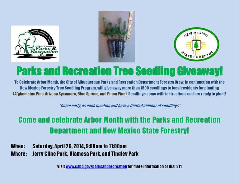 Tree Seedling Giveaway Flier