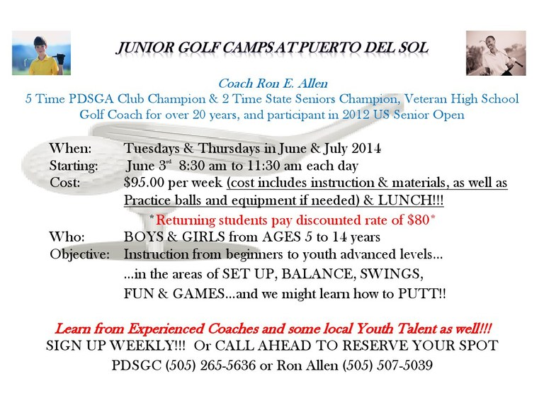 Puerto del Sol Junior Golf Information
