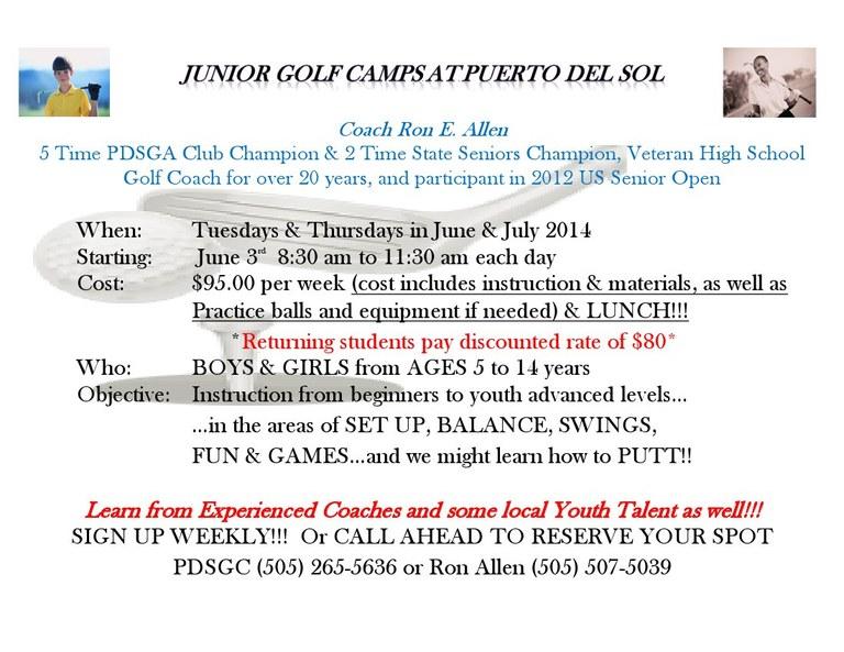 Puerto del Sol Junior Golf Information