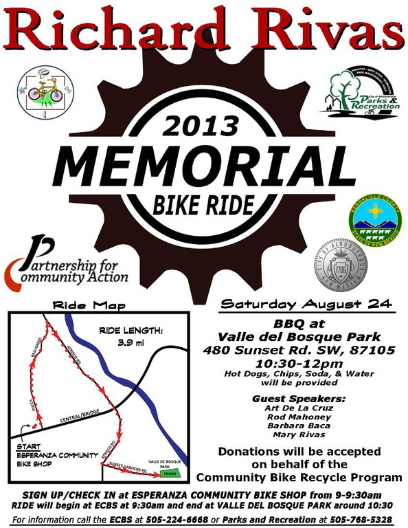 Richard Rivas Memorial Bike Ride 2013