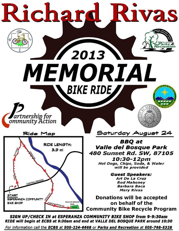 Richard Rivas Memorial Bike Ride 2013