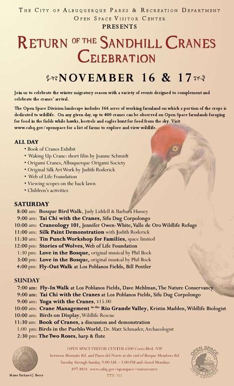 Return of Cranes Schedule 2013