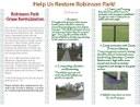 Robinson Park Revitalization Brochure Front