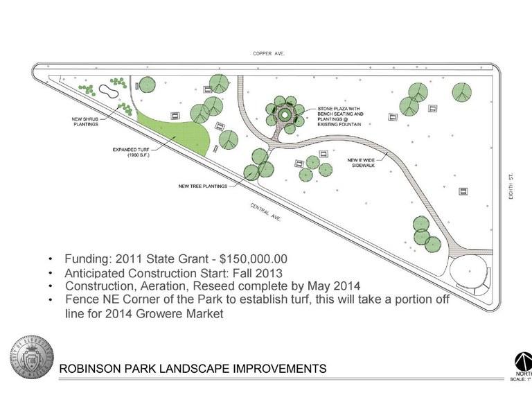 Robinson Park Revitalization Brochure Back