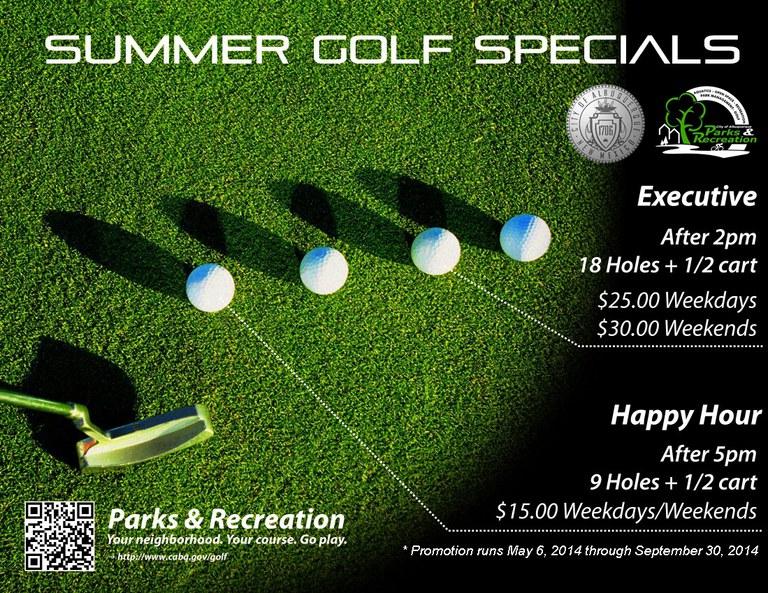 Golf Summer Specials 2014 Flier