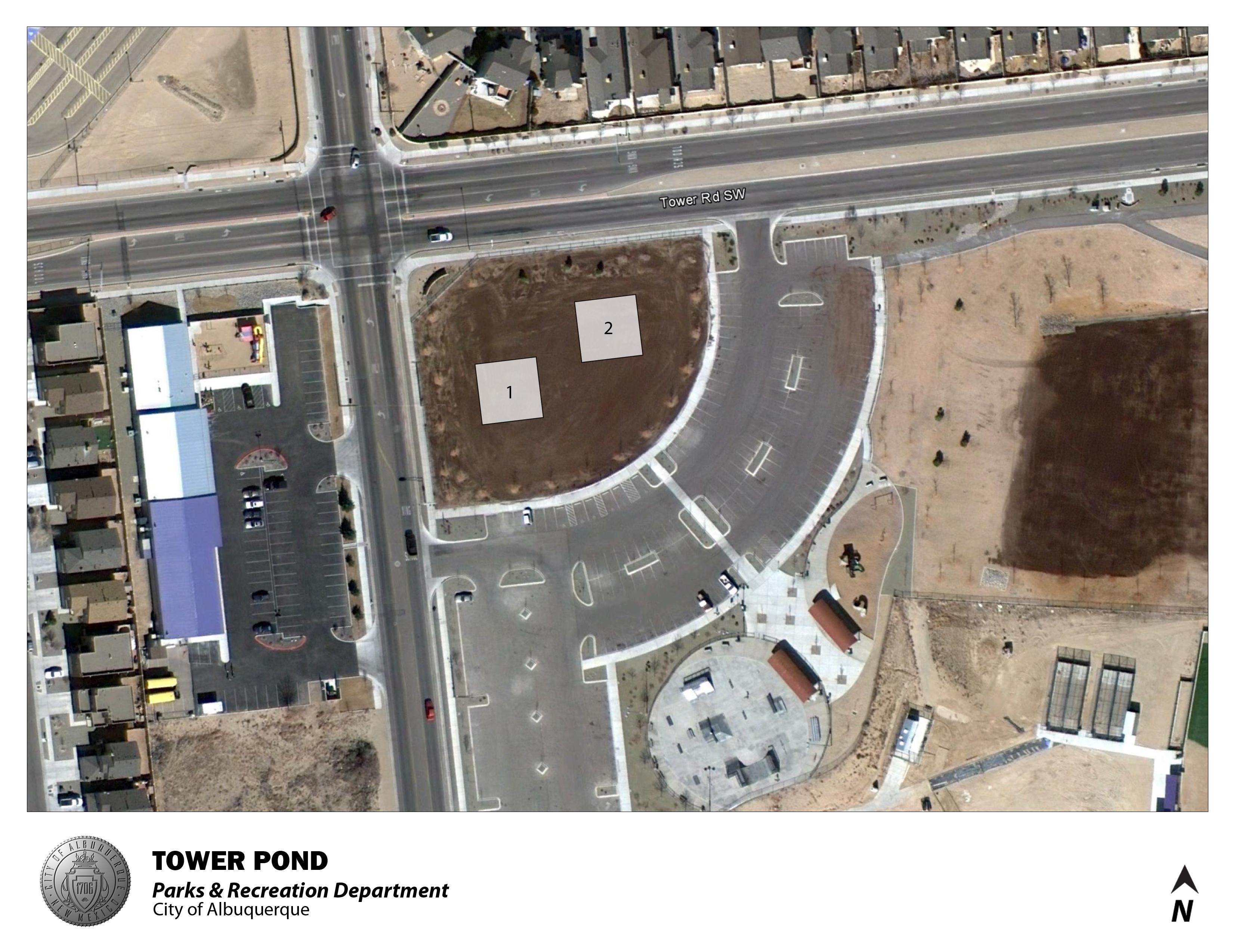 Tower Pond Park Jumper Map (August 2012)