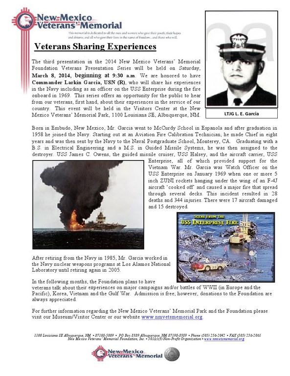 Veterans Sharing Experiences - Larkin Garcia