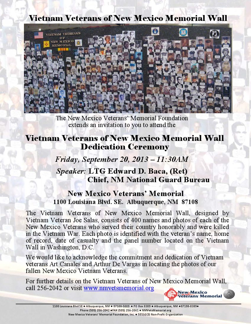 new mexico vietnam veterans memorial wall city of albuquerque - Who Designed The Vietnam Wall