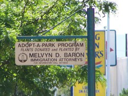 Adopt a Park sign pic