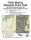 Alameda Drain Trail Public Meeting Flyer - December 2019