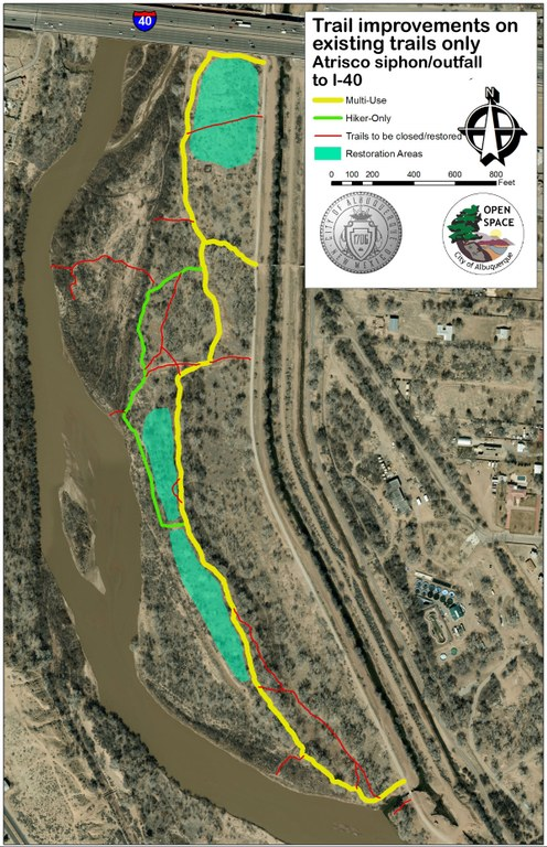 Map: Alternative 1 - Outfall to Interstate 40