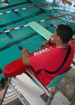 A Junior Lifeguard program is available for swimmers between the ages of 11 to 15