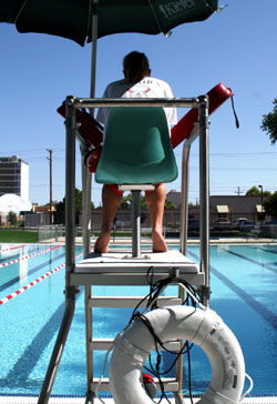 Observe swimming pool rules and obey lifeguards