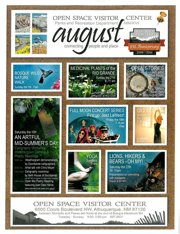 August calendar OSVC 2016
