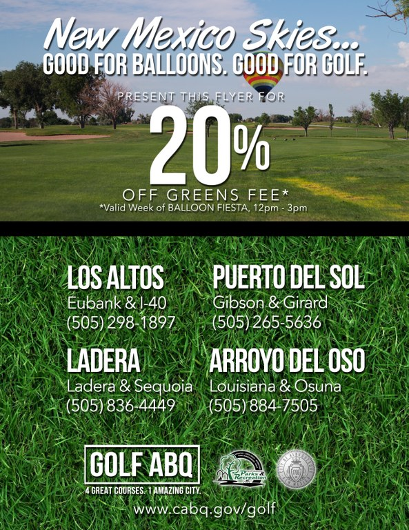 Balloon Fiesta Yearly Golf Special